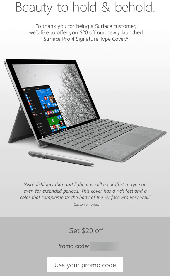 Microsoft Store offers Surface owners $20 off the Signature Type Cover OnMSFT.com June 21, 2016