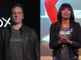 Phil spencer and aisha tyler at e3 2016