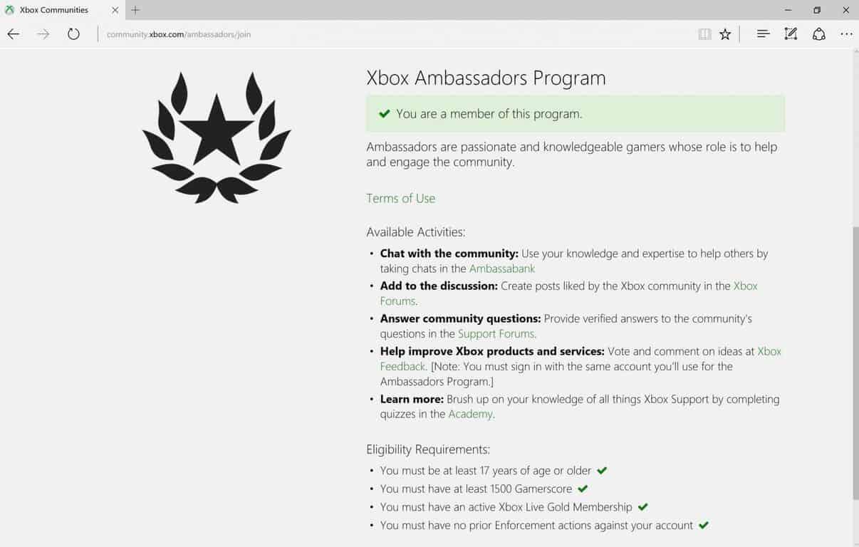 Microsoft, Xbox Ambassadors, Xbox