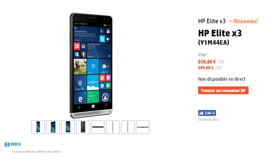 HP Elite X3 French Pricing