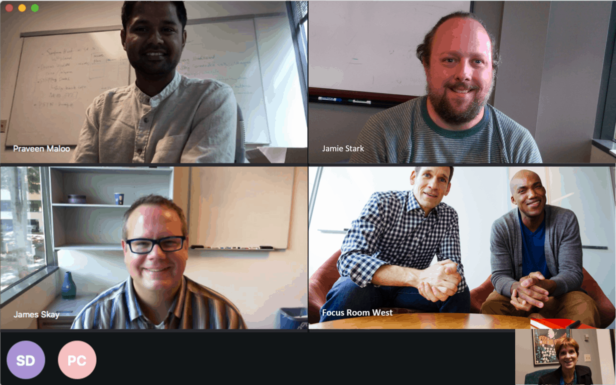 Group video calling on Skype for Business Mac Preview.