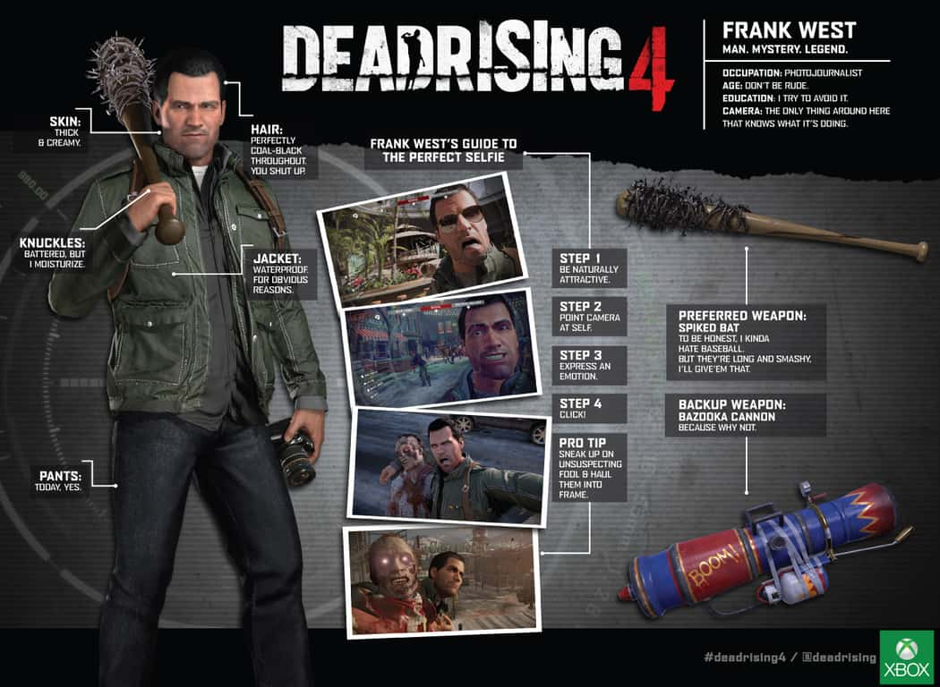 franksheet DeadRising 4, available Dec 6 on Xbox One and Windows 10, brings the Zombie Apocalypse to Comic-Con