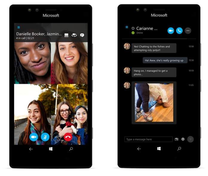 Skype Preview Windows 10 Mobile