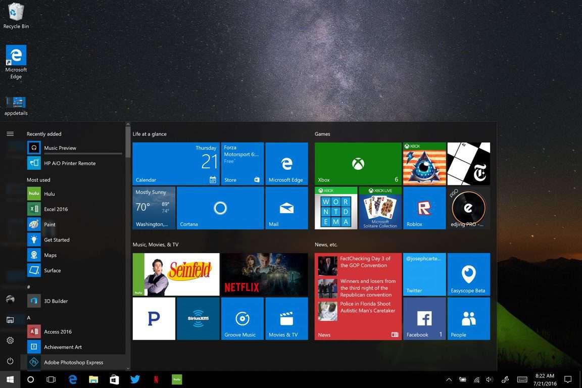 how to refresh windows 10 start menu