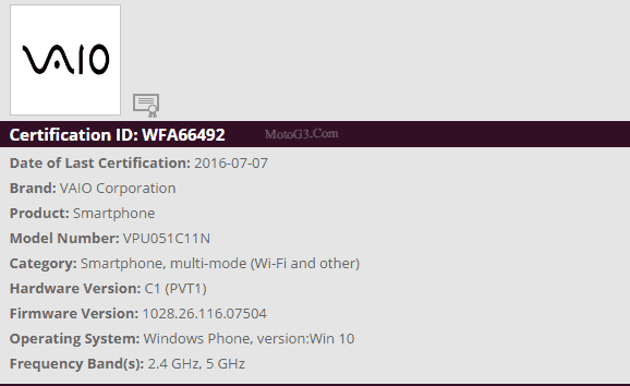 Another vaio windows 10 mobile appears, passes wifi certification - onmsft. Com - july 10, 2016