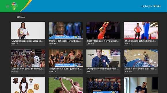 Windows 10, NBC Sports app