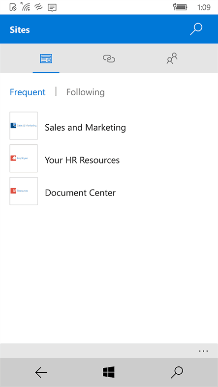 SharePoint preview app for Windows 10 Mobile shows up in Windows Store OnMSFT.com August 27, 2016