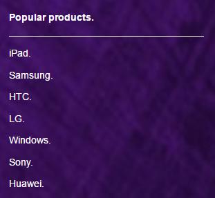 Three UK popular products
