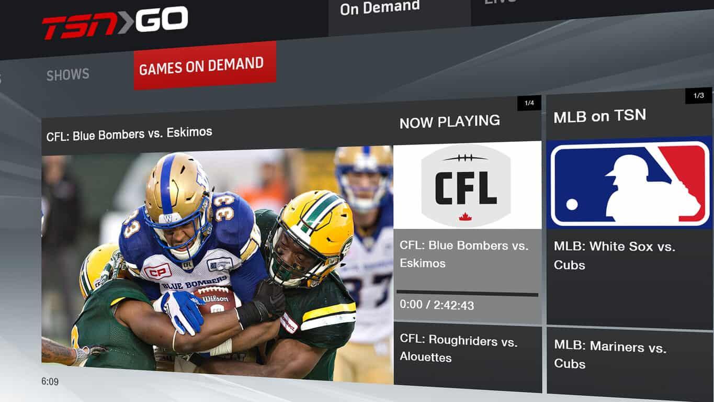 TSN GO app on Xbox One
