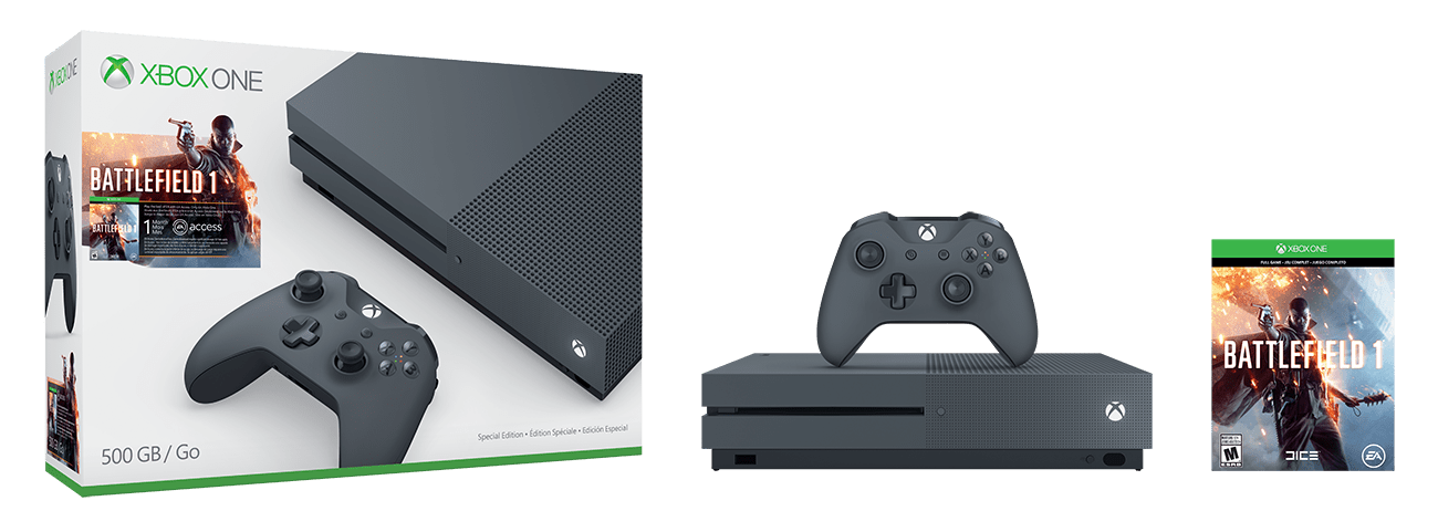 Three new xbox one s battlefield 1 bundles announced, get one in military green - onmsft. Com - september 12, 2016