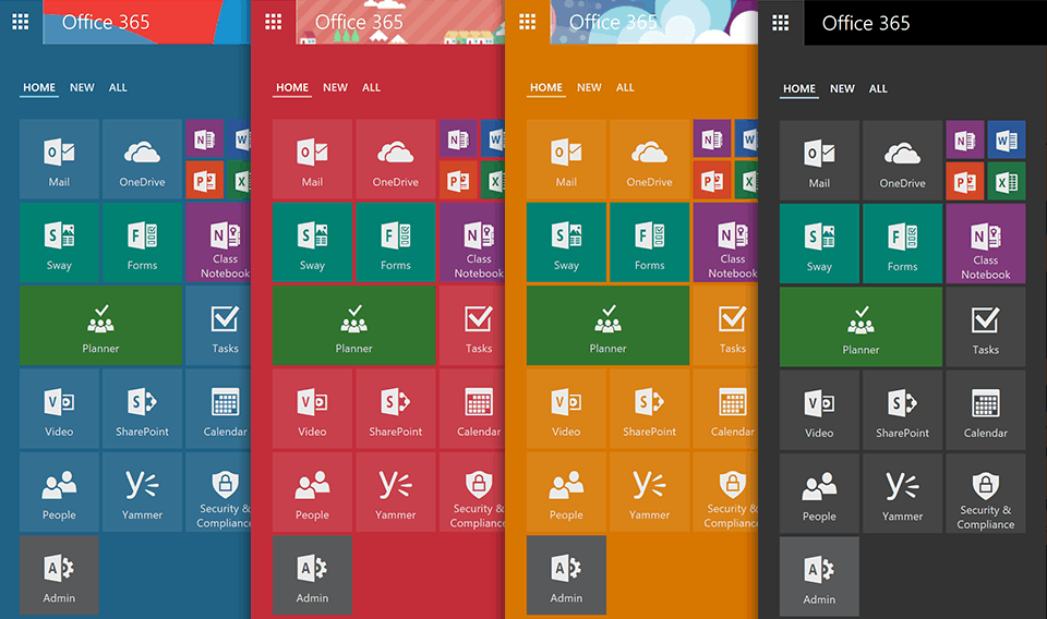 New office 365 app launcher adds tabbed layout resize for Tile layout app