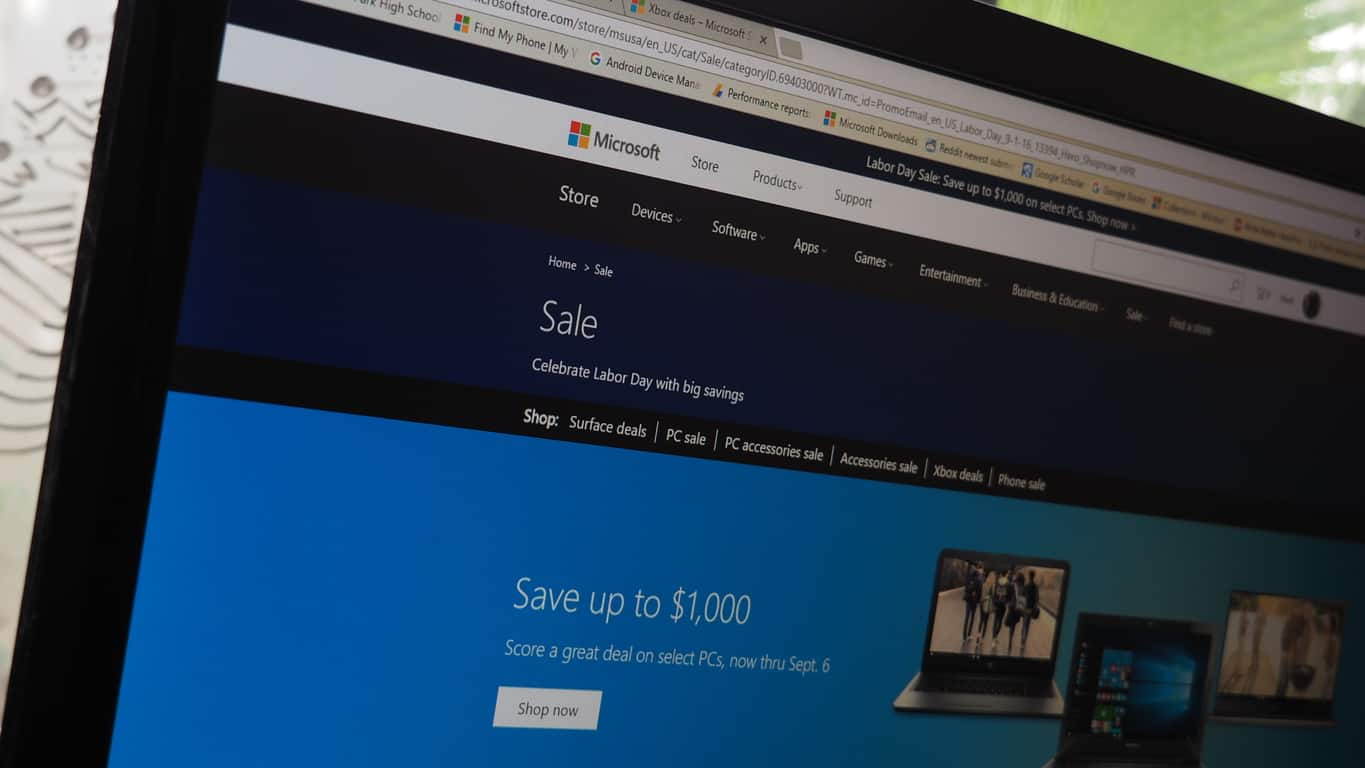 Store labor day sale lets you save up to 1000 on a new windows 10 pc