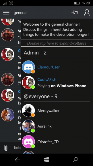 Third-party Discord app Clamour released for Windows 10 Mobile, free version in the works OnMSFT.com September 12, 2016