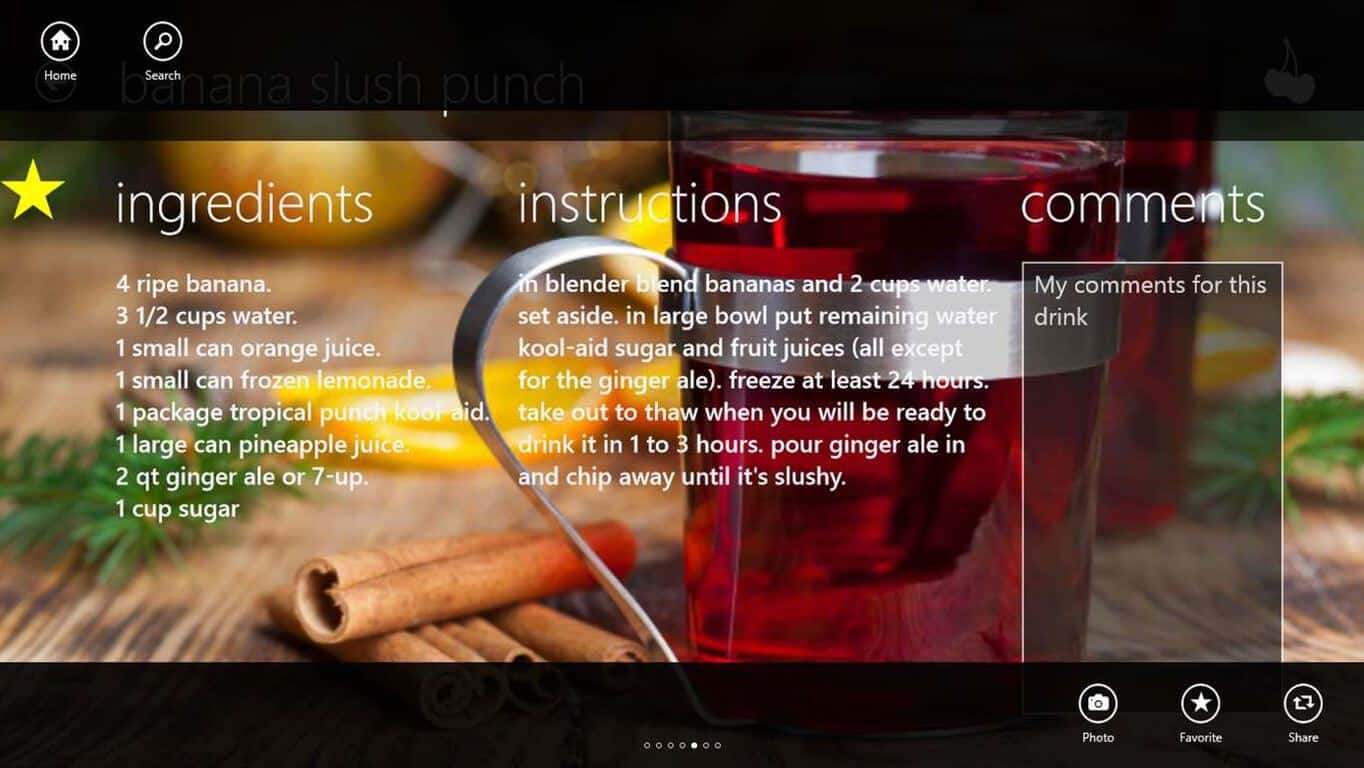 drink windows food alcohol apps recipes