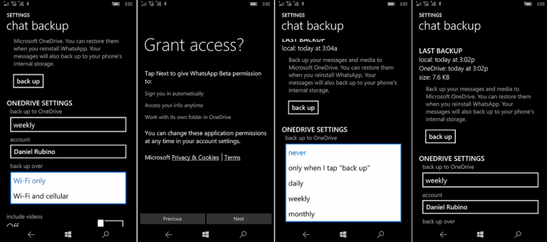 WhatsApp beta on Windows phones updated with OneDrive message backup OnMSFT.com September 16, 2016