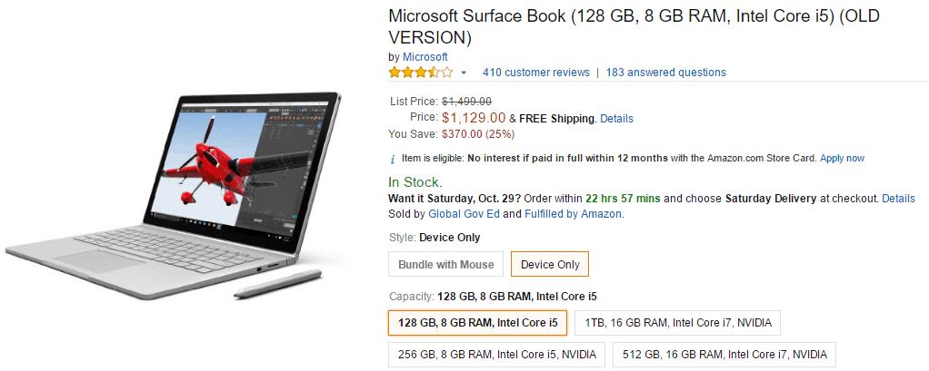 Microsoft Surface Book Amazon