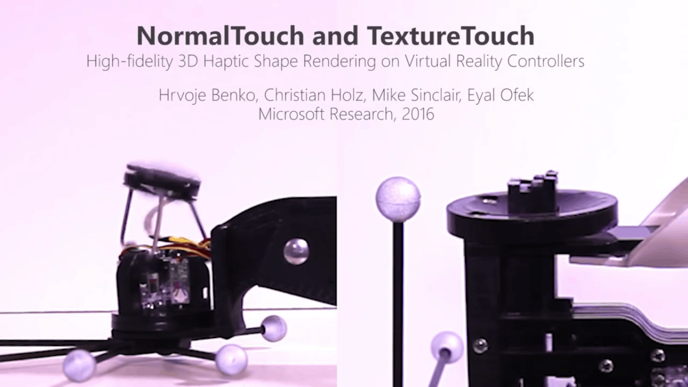 Microsoft Research shows off NormalTouch and TactileTouch for haptic virtual reality solutions