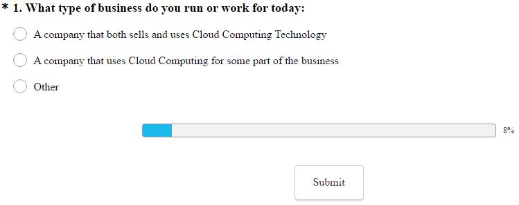 cloud computing survey from North Bridge and Microsoft