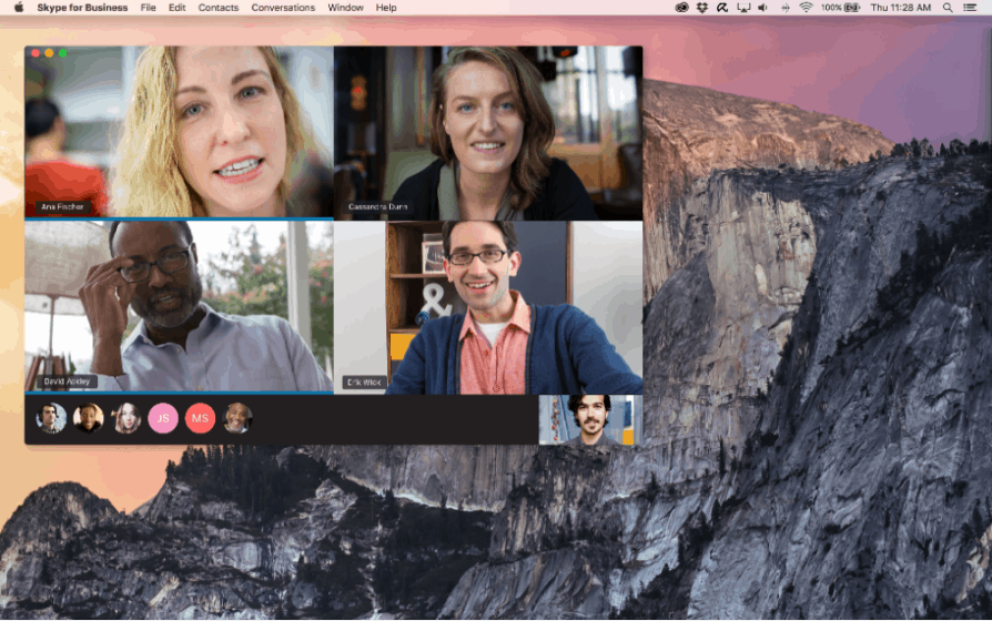 Skype for business Mac client