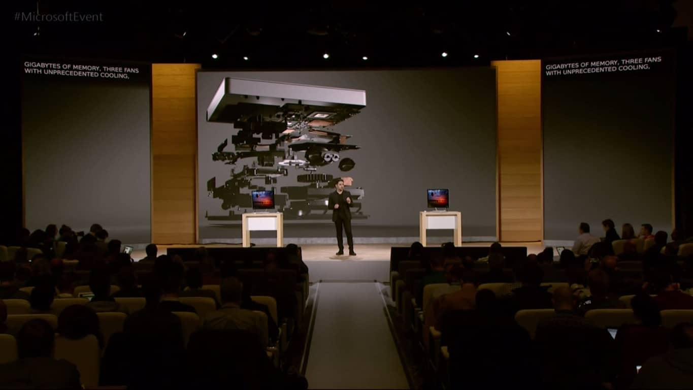 Panos Panay explaining Surface Studio