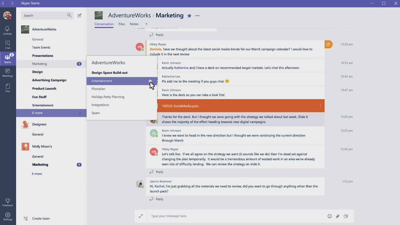 Microsoft launches messaging system for businesses, takes on Slack