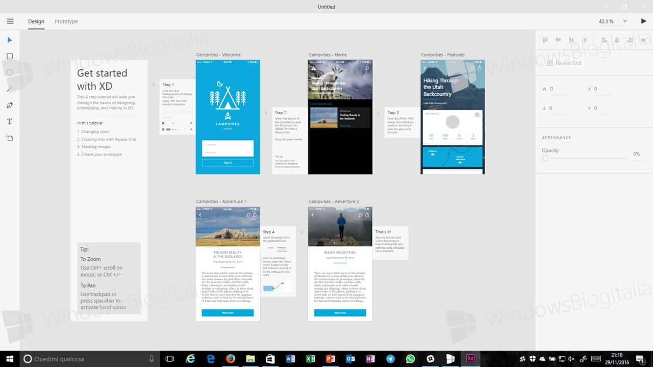 adobe experience design windows