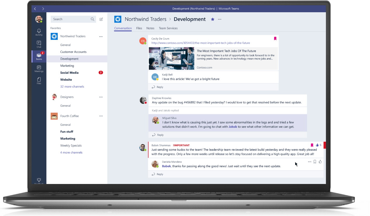 Microsoft Teams w/ Skype integration