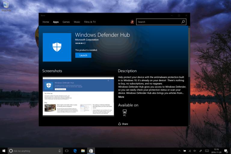 Windows 10 news recap: Holograms app, Windows Defender Hub, Build 14971 and more OnMSFT.com November 20, 2016