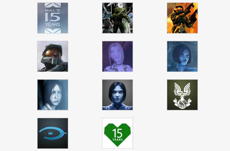 Halo and xbox 15th anniversary gamerpics