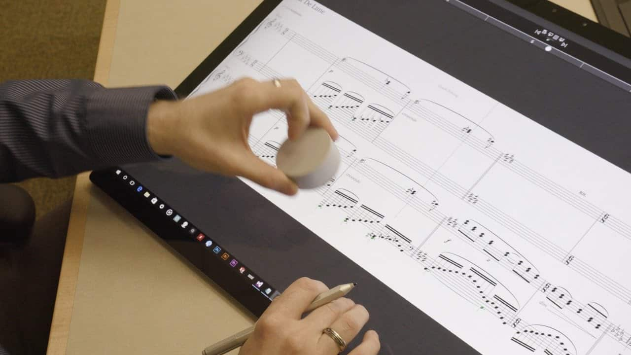 Staffpad with Microsoft Surface Dial