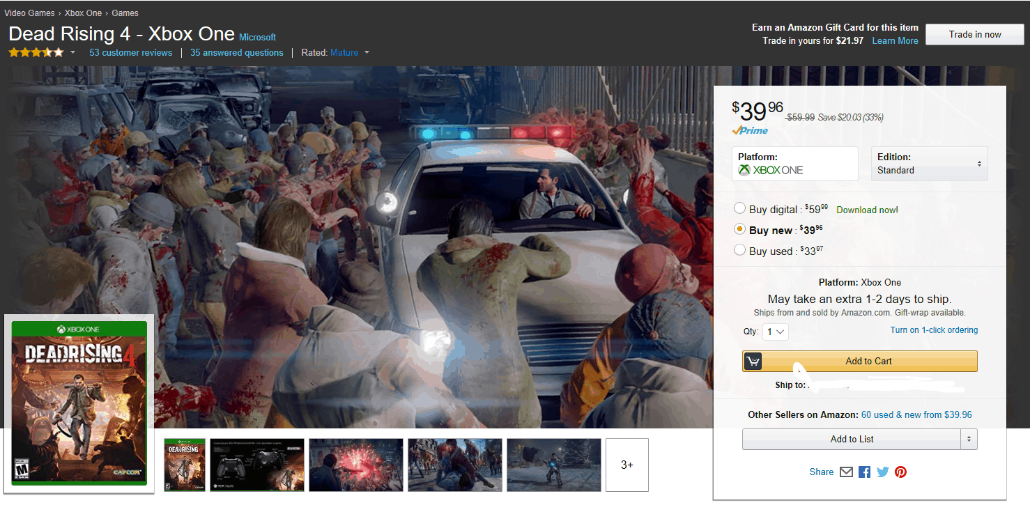 Deal Alert: Grab Dead Rising 4 from Amazon for just $39 OnMSFT.com December 20, 2016