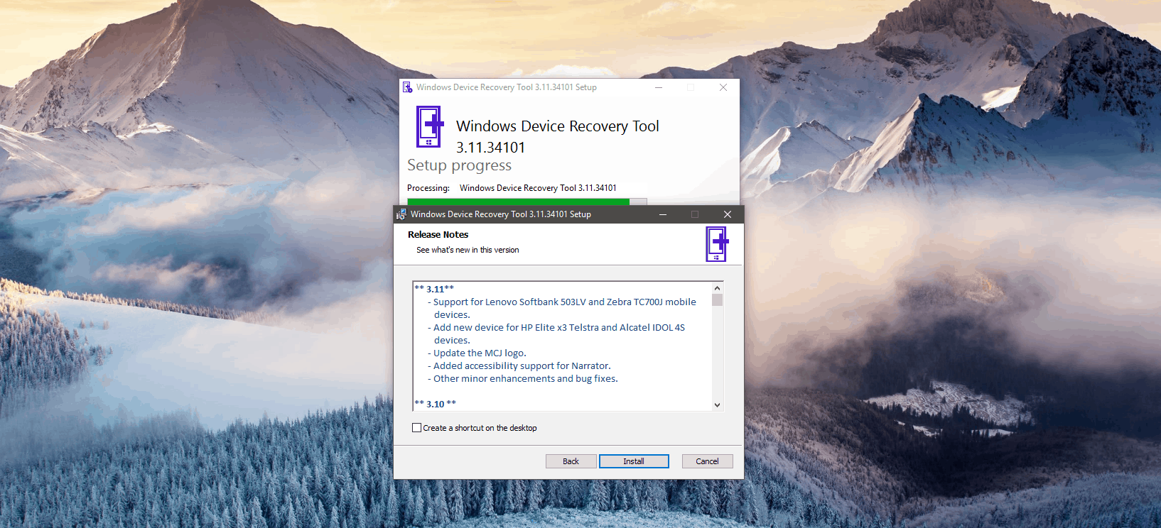 Windows device recovery tool delivers a mandatory update - onmsft. Com - december 12, 2016