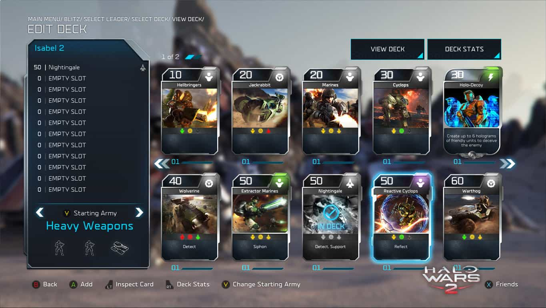 Halo Wars 2 Blitz Card Deck