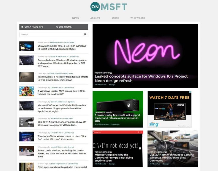 Onmsft. Com site feedback - latest news on the left or right? (poll) - onmsft. Com - january 6, 2017