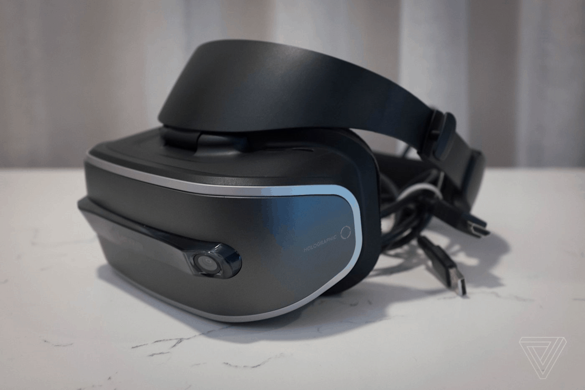Lenovo's first Windows Holographic VR headset. Image Credit: The Verge