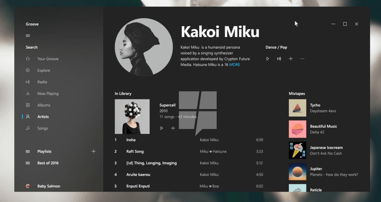 Microsoft Windows 10 Project Neon acrylic