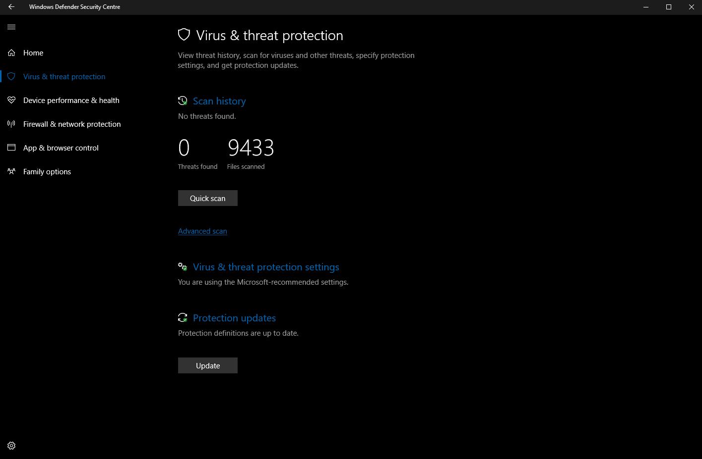 Latest windows 10 insider build 15042 brings windows defender improvements - onmsft. Com - february 25, 2017