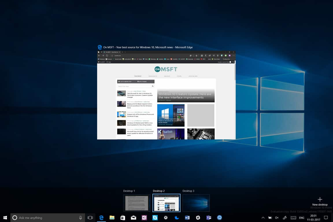How Windows 10's virtual desktops keep me productive all day long OnMSFT.com November 5, 2018