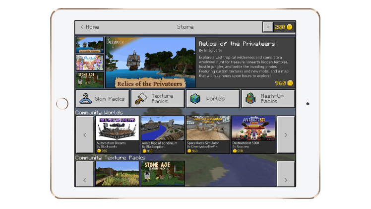 Minecraft Marketplace iPad