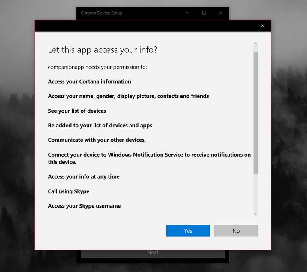 Harmon Kardon Cortana Speaker Permissions