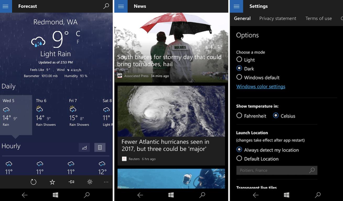 MSN Weather Dark Theme 2