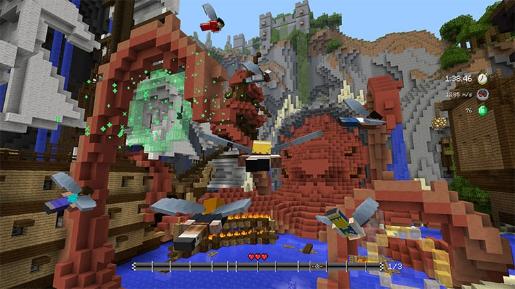 Mini-game beast track map dlc glides into minecraft for consoles - onmsft. Com - april 25, 2017