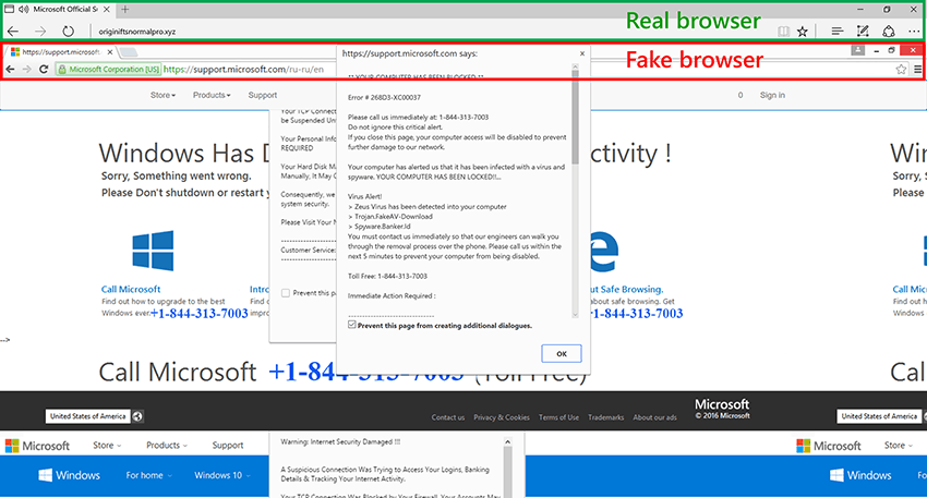 """Microsoft highlights tech support scams, details their """"holistic approach"""" to problem - onmsft. Com - april 4, 2017"""