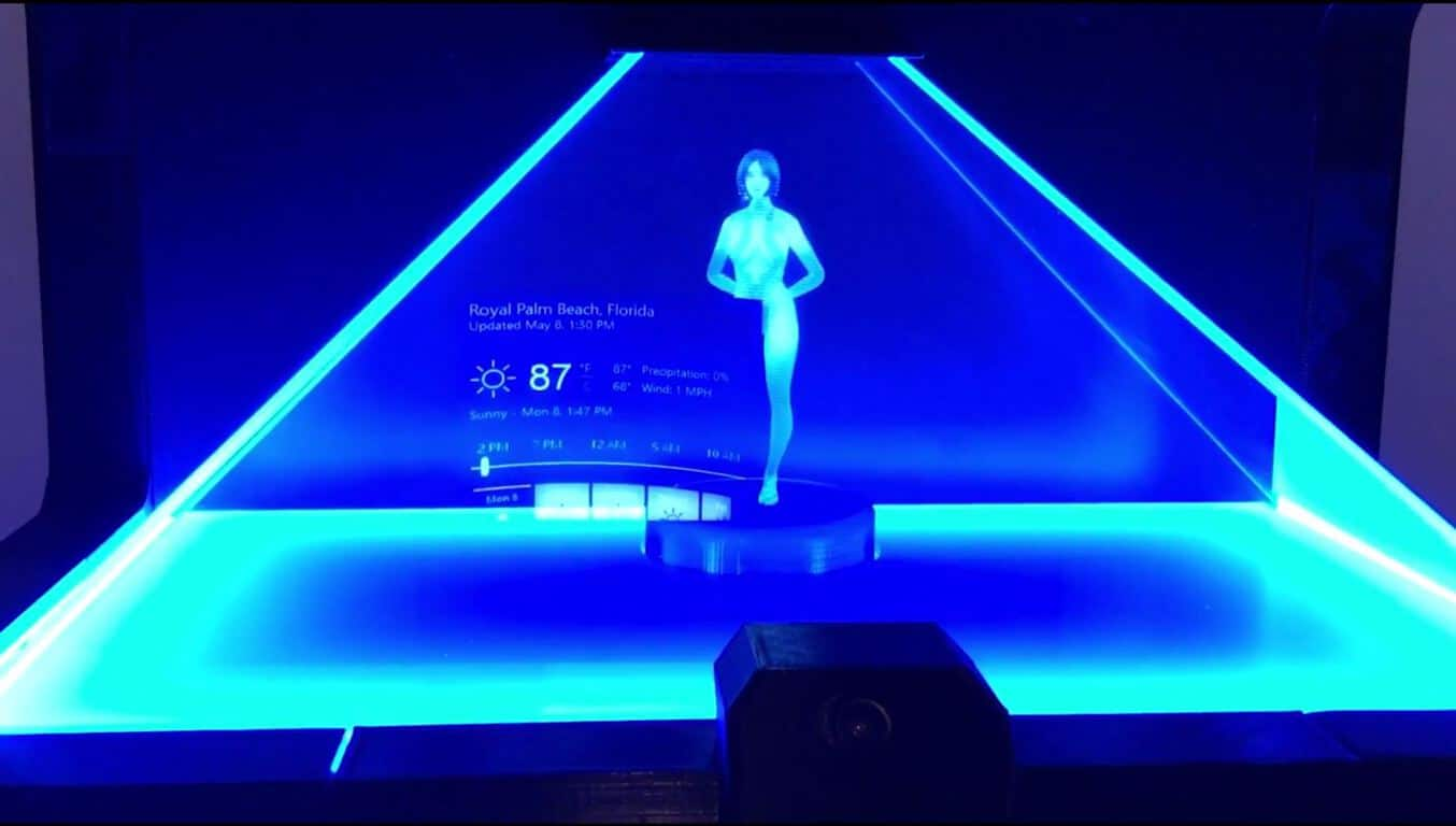 Cortana Hologram