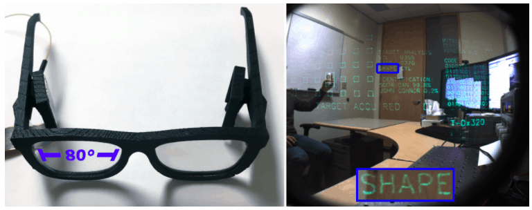 Microsoft research shows off prototype hololens eyeglasses, field of view improvements - onmsft. Com - may 22, 2017