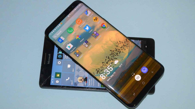 Galaxy S8+ with Lumia 950 XL