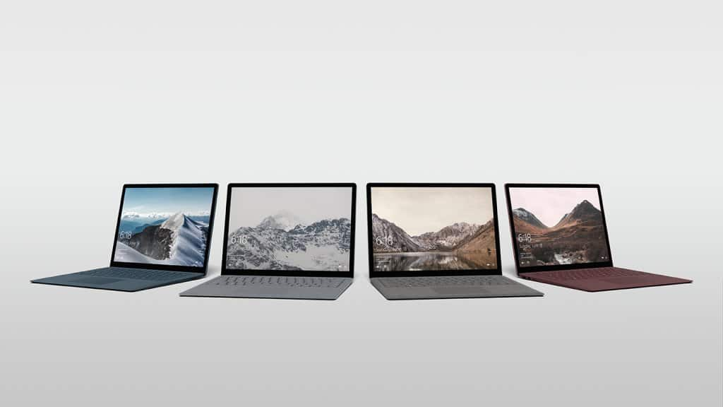Surface Laptop 4 colors @h0x0d