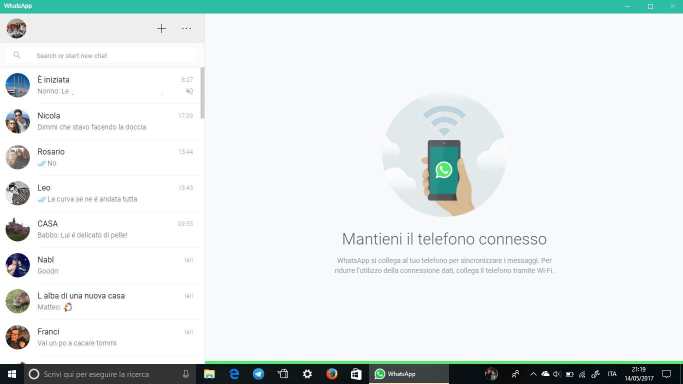 WhatsApp Windows 10 Desktop App