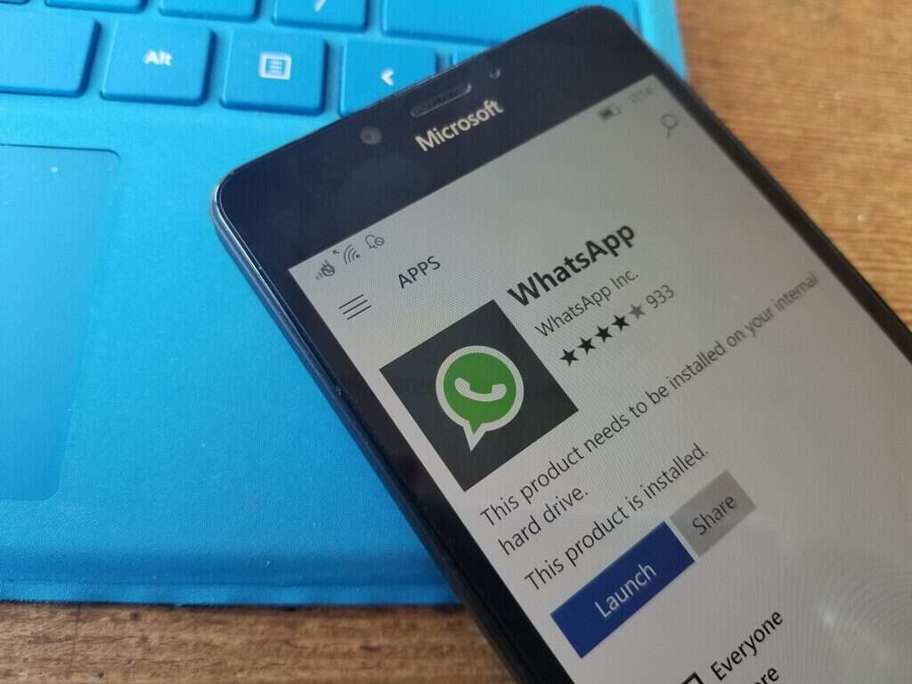 whatsapp, windows 10 mobile