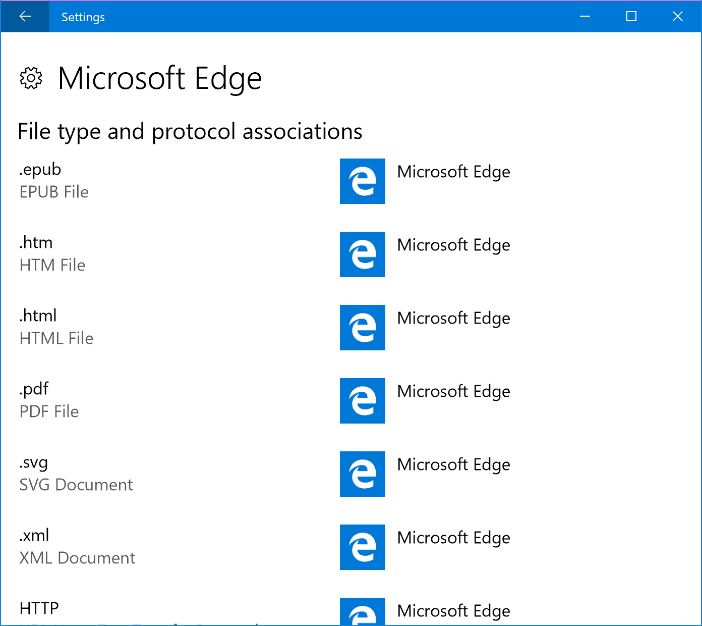 Edge Settings
